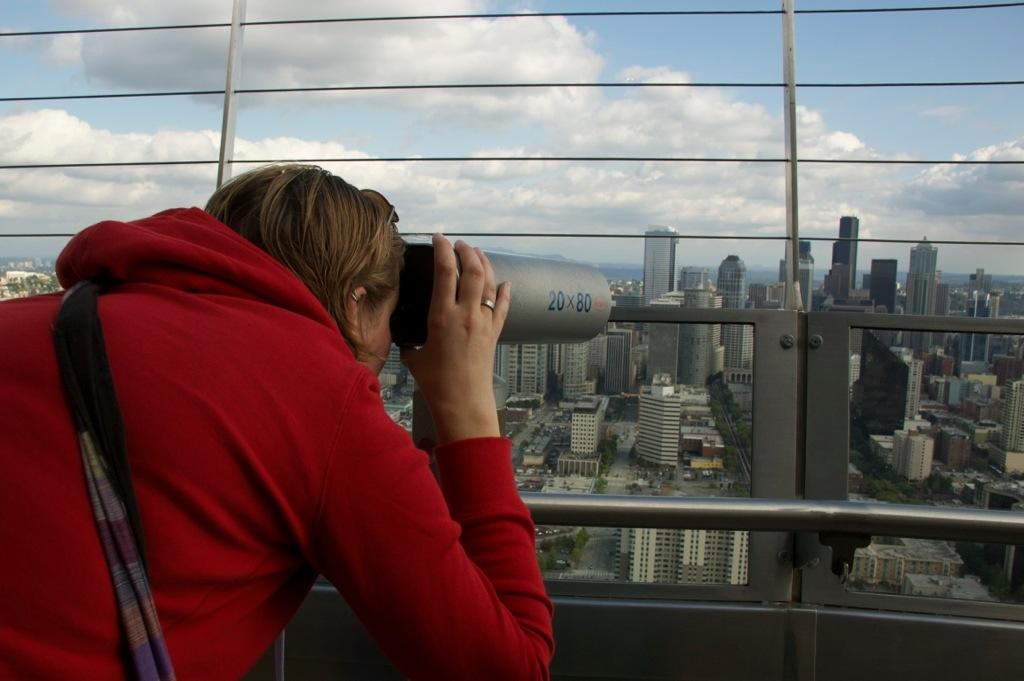 Uitzicht over Seattle, Amerika