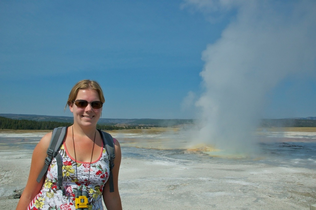 Marcella in Yellowstone National Park in Amerika