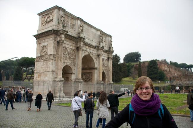 Fietsen over de Via Appia in Rome