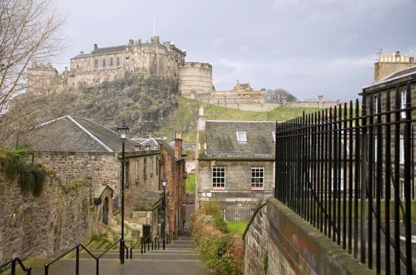 Edinburgh Castle in Edinburgh, Schotland