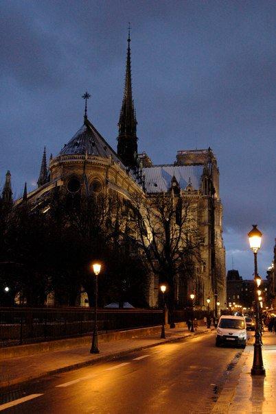 Notre dame in Parijs, Frankrijk
