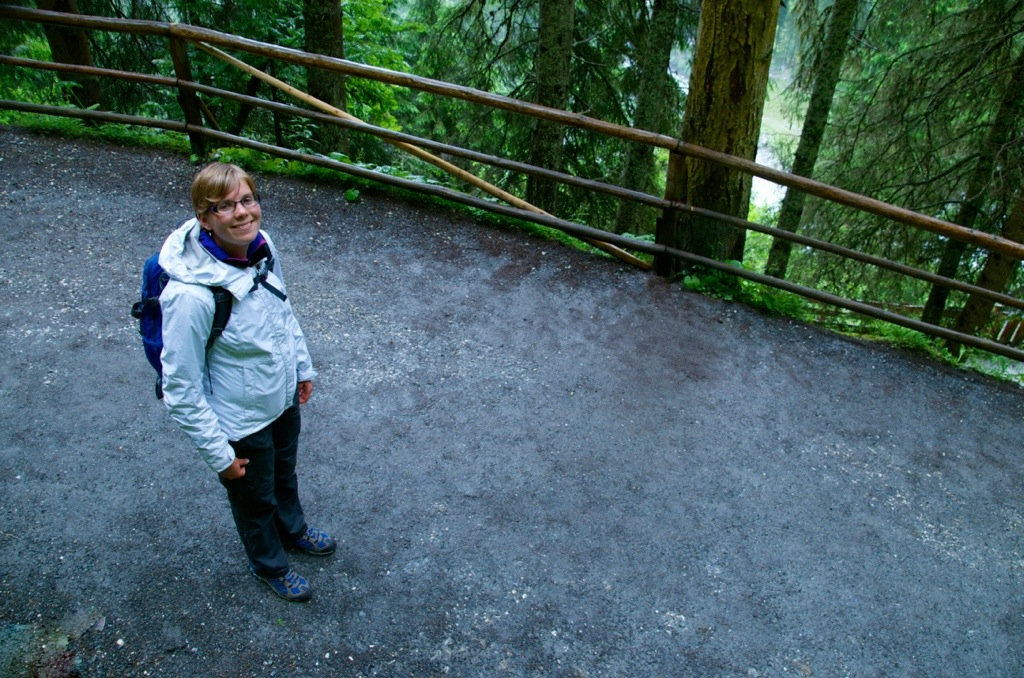 Marcella bij Krimml Wasserfalle in Salzburgerland, Oostenrijk