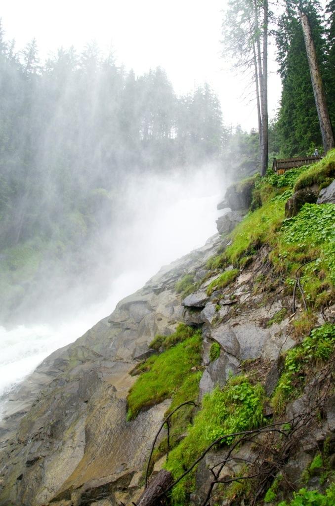 Krimml Wasserfalle in Salzburgerland, Oostenrijk