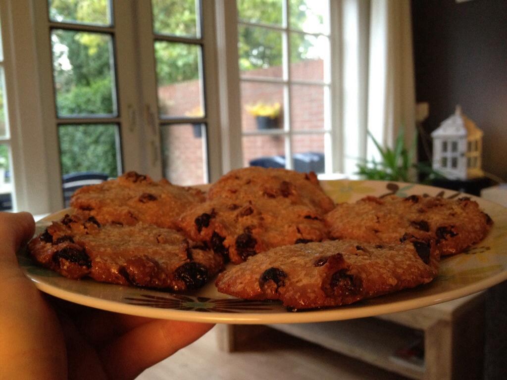 Rozijnen koekjes van Marcella