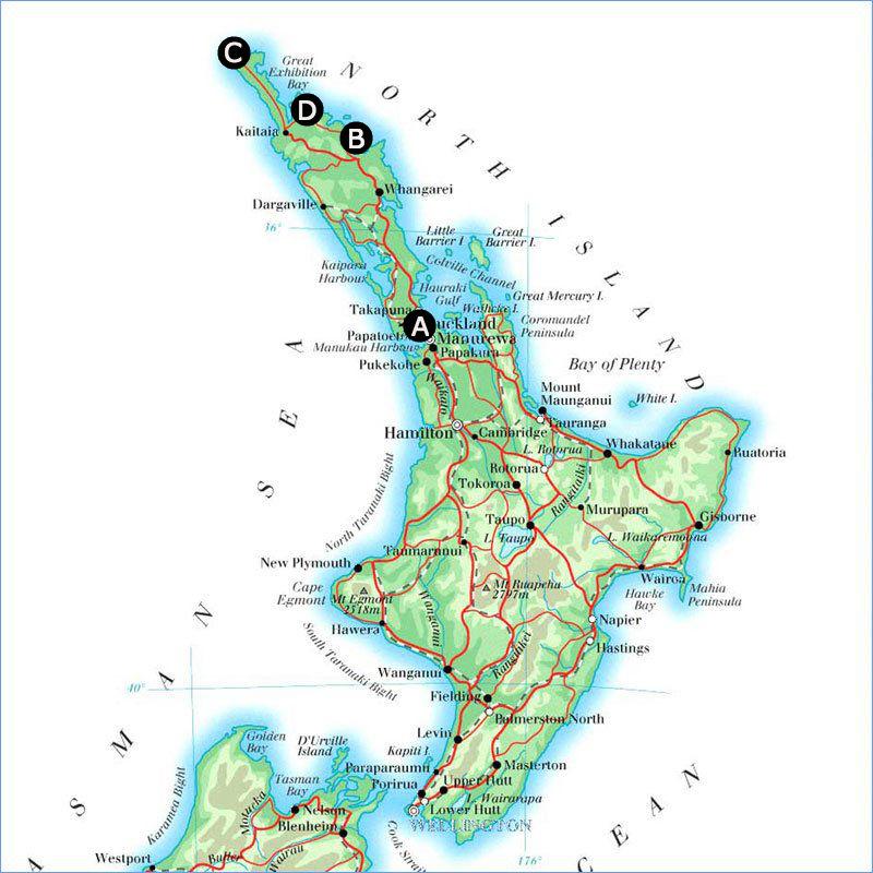 Route Noordereiland, Nieuw Zeeland
