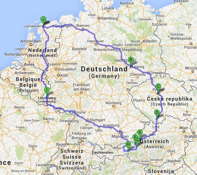 Route Praag-Oostenrijk, Marcella Molenaar, 2013