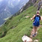 Marcella in de bergen in Oostenrijk