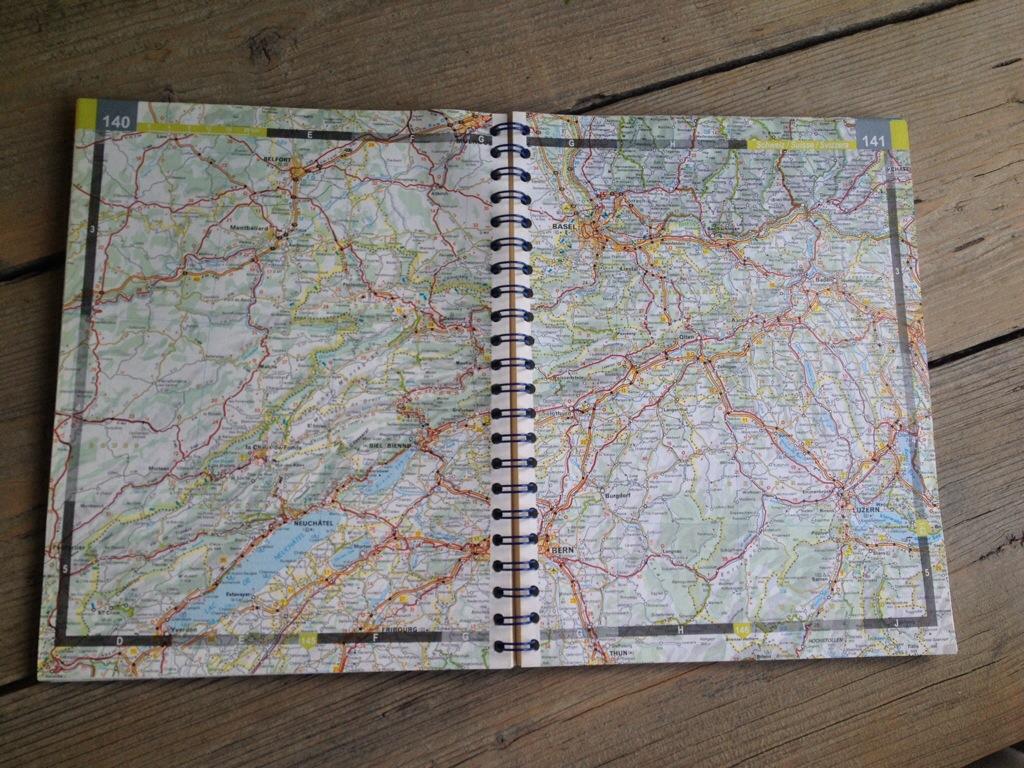 Detailkaart uit Michelin atlas van Europa