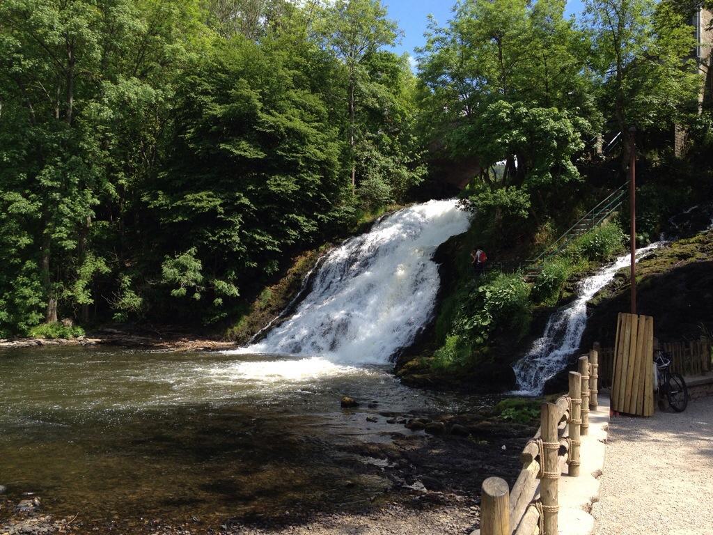 Watervallen van Coo in Belgie