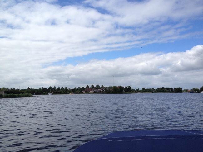 Op het water in Friesland