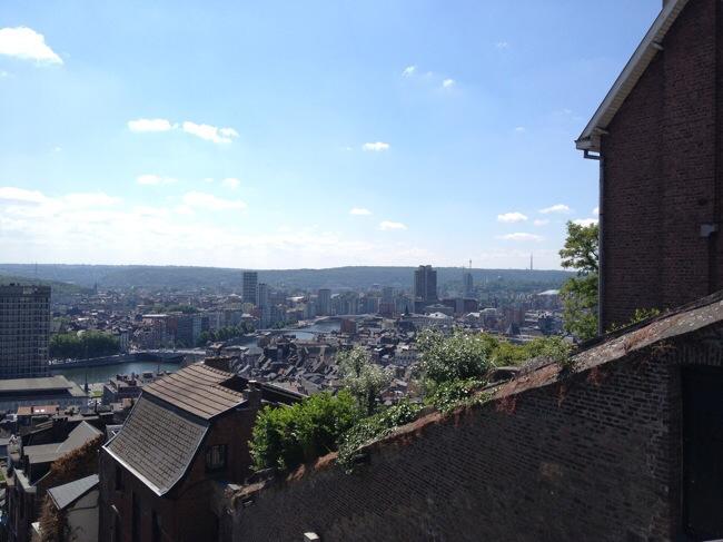 Uitzicht vanaf Montagne de Bueren, Luik