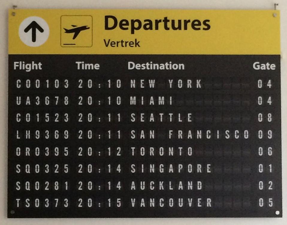 Airpart Departures
