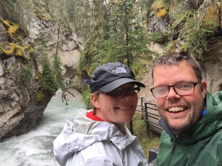 Jan en Marcella, Johnston Canyon, Banff National Park, Canada