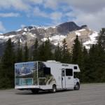 Camper, Bow Lake, Alberta, Canada