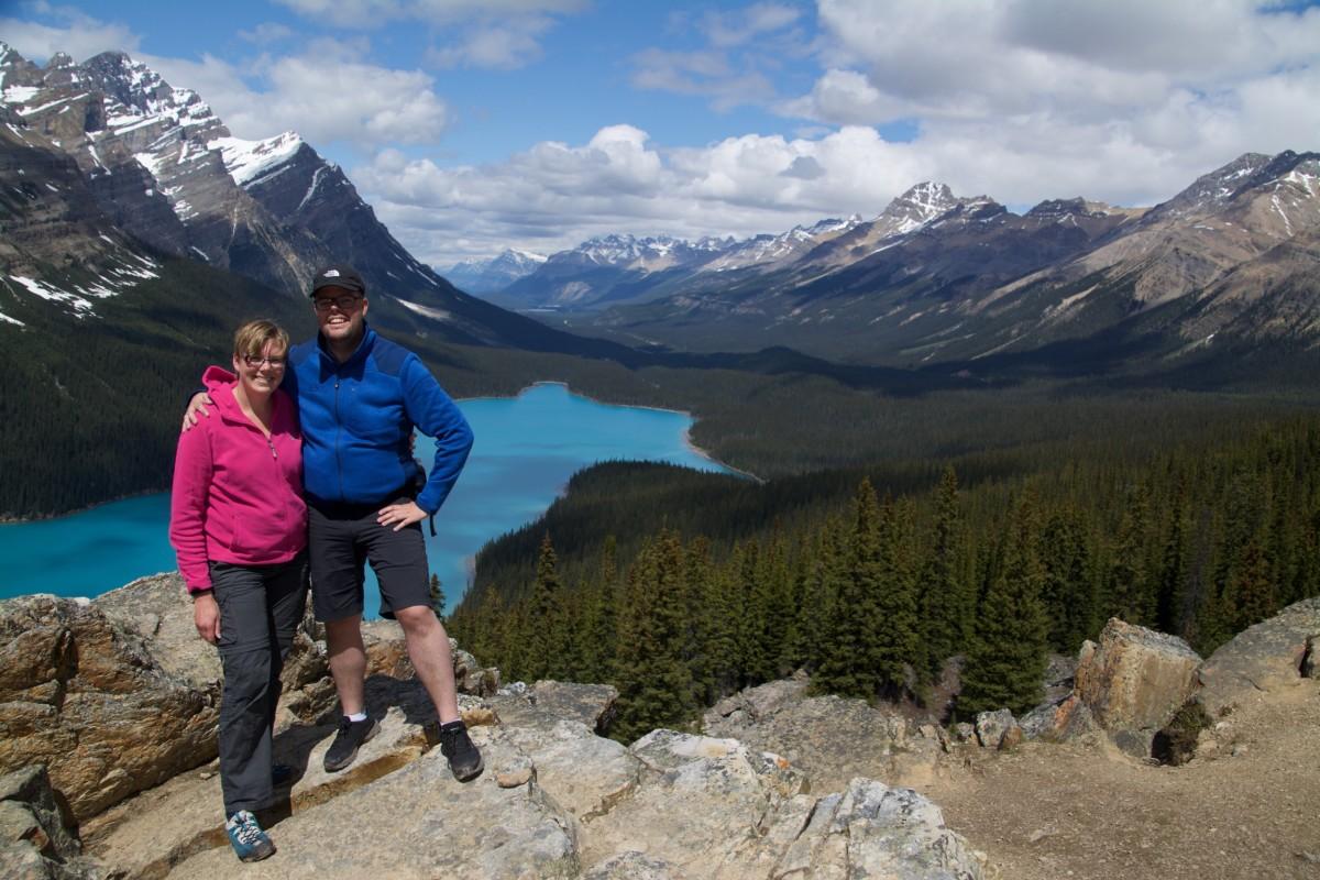 Jan en Marcella, Peyto Lake, Alberta, Canada