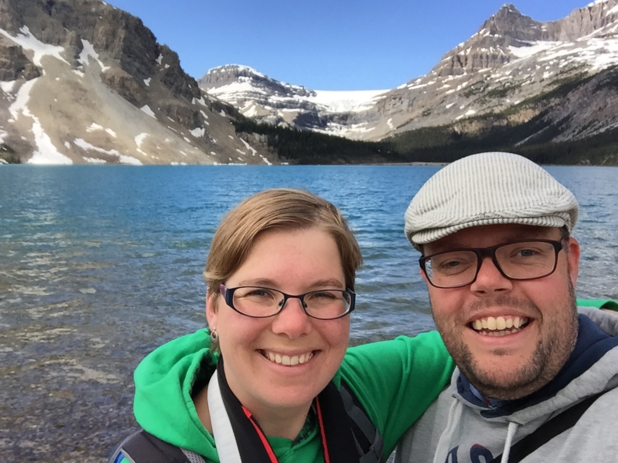 Jan en Marcella, Bow Lake, Alberta, Canada