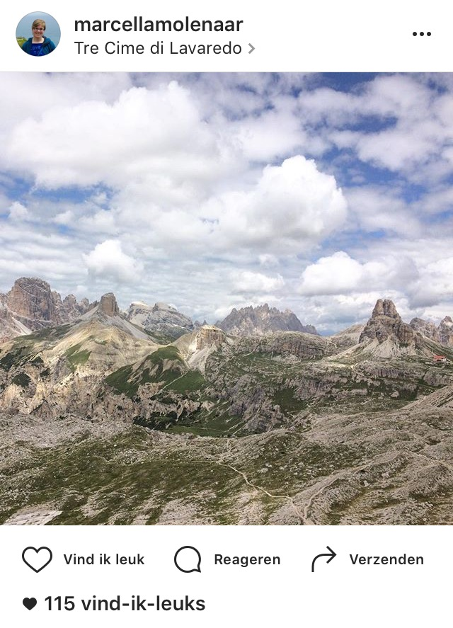 Instagram pareltjes, Dolomieten