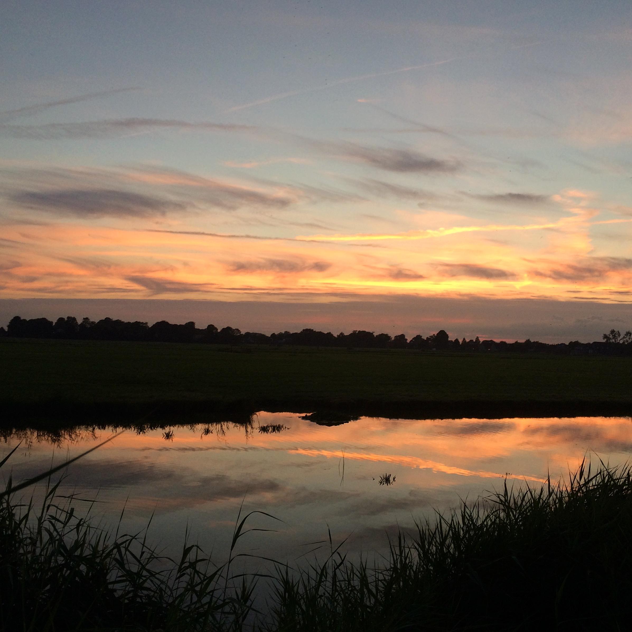 Zonsondergang Groningen