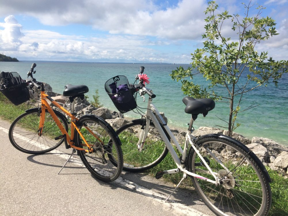 Biking at Mackinac Island