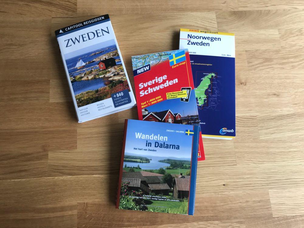 Zweden, Reisboeken en wegenkaarten