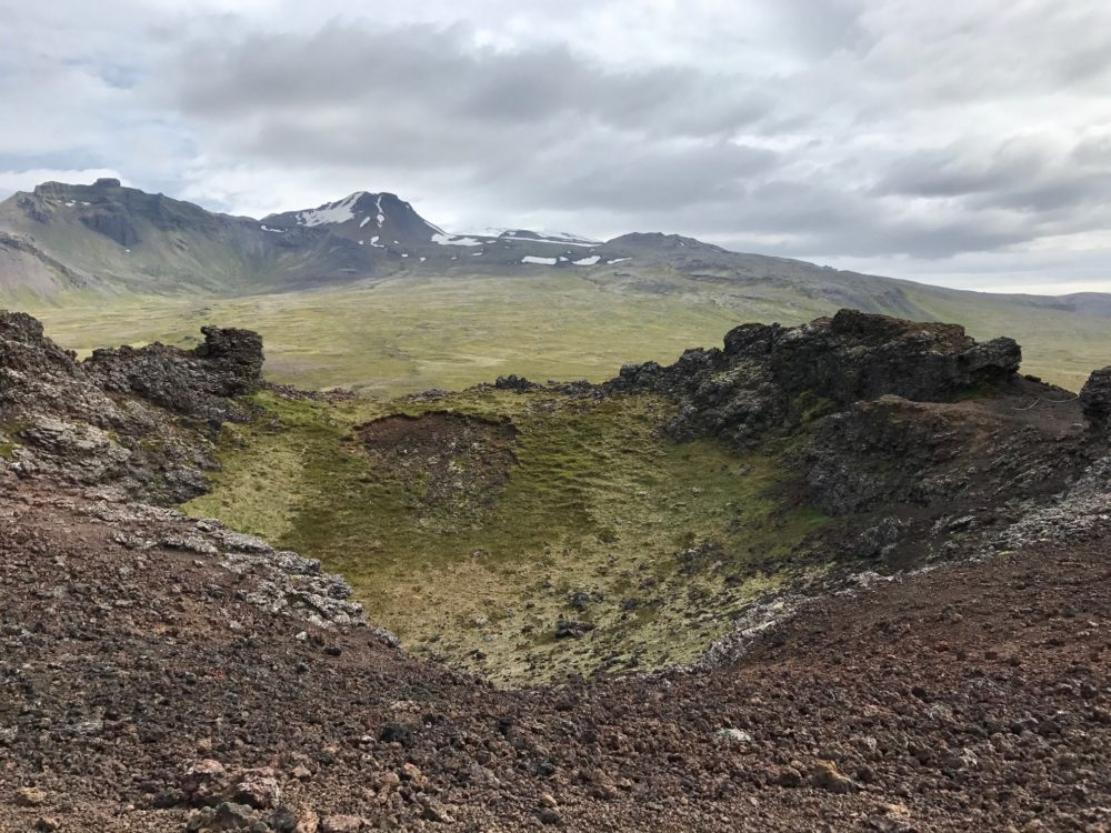 Saxhol crater Iceland