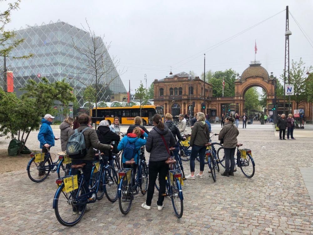 Fietsen in Kopenhagen, Denemarken