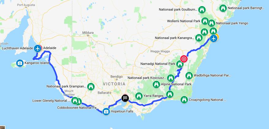 Concept route Australia 2020