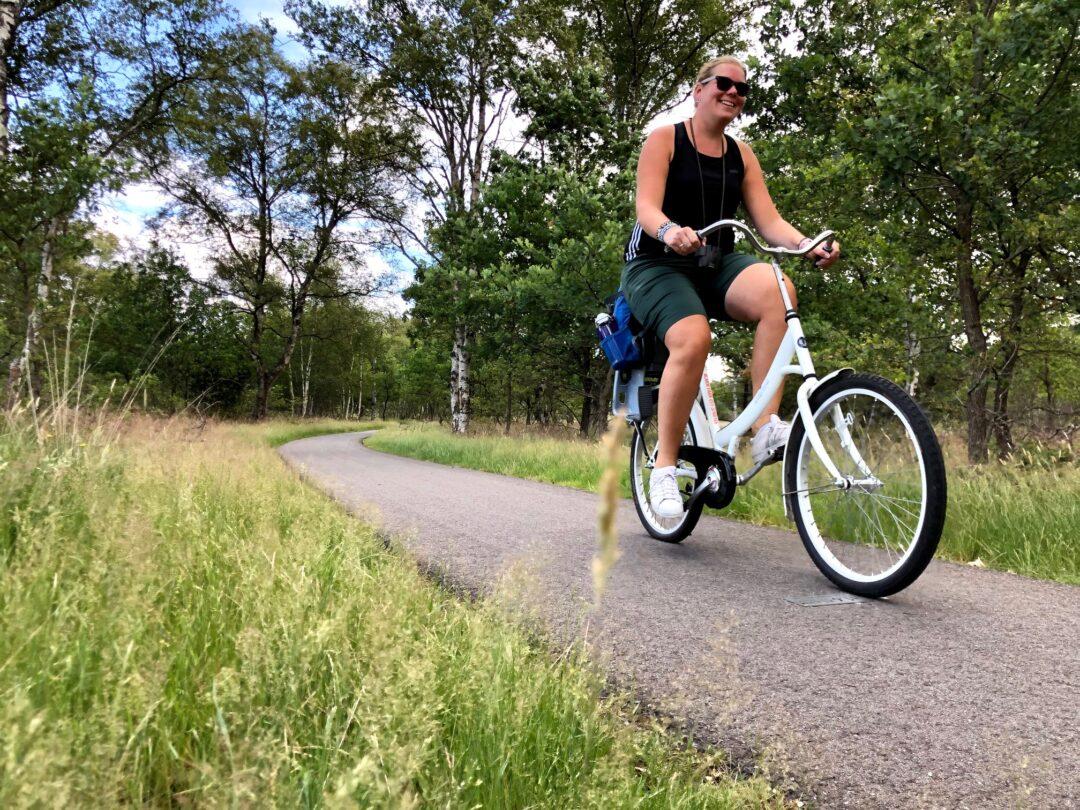 Marcella fietsen Veluwe