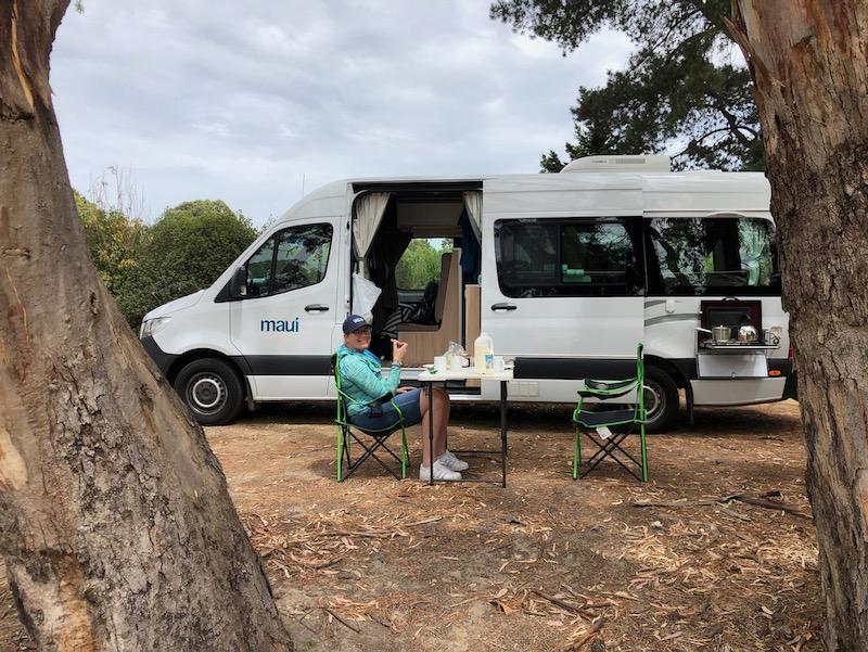 Adelaide Hills camper